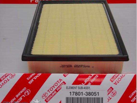 Air Filter Element Genuine Toyota 17801-38051